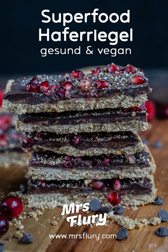 Superfood Haferriegel - gesund und vegan Mrs Flury