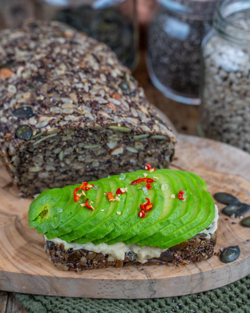 Low Carb Saatenbrot - gesund, vegan und glutenfrei Mrs Flury