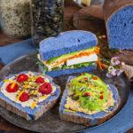 Blaues Brot Rezept Mrs Flury mit Schmetterlingserbsentee