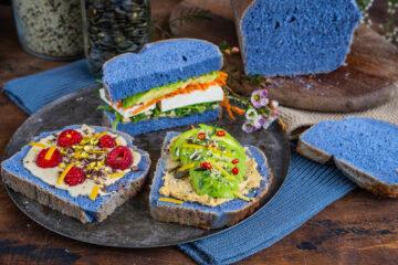 Blaues Brot Mrs Flury Schmetterlingserbsentee