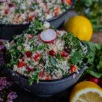 Leichter Blumenkohl Couscous Salat Rezept vegan Mrs Flury