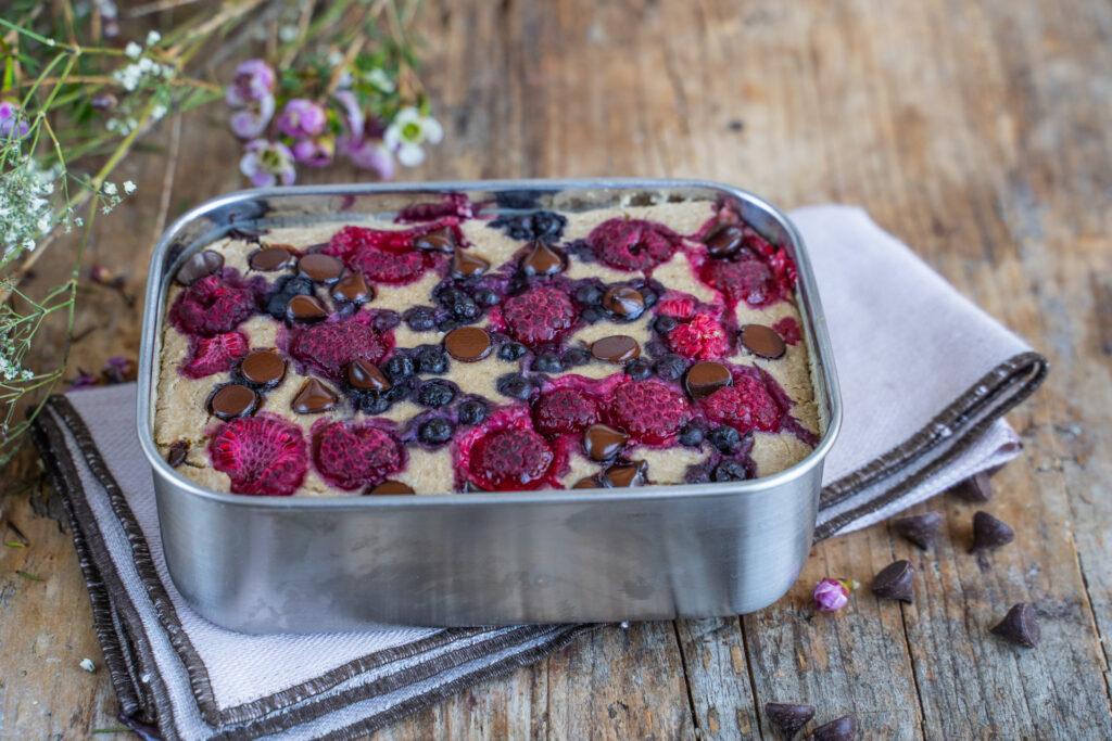 Baked Oats Rezept vegan mit 3 Zutaten Mrs Flury