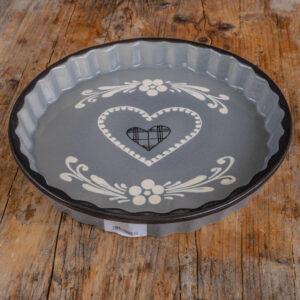 Tarte Form grau Mrs Flury Keramik