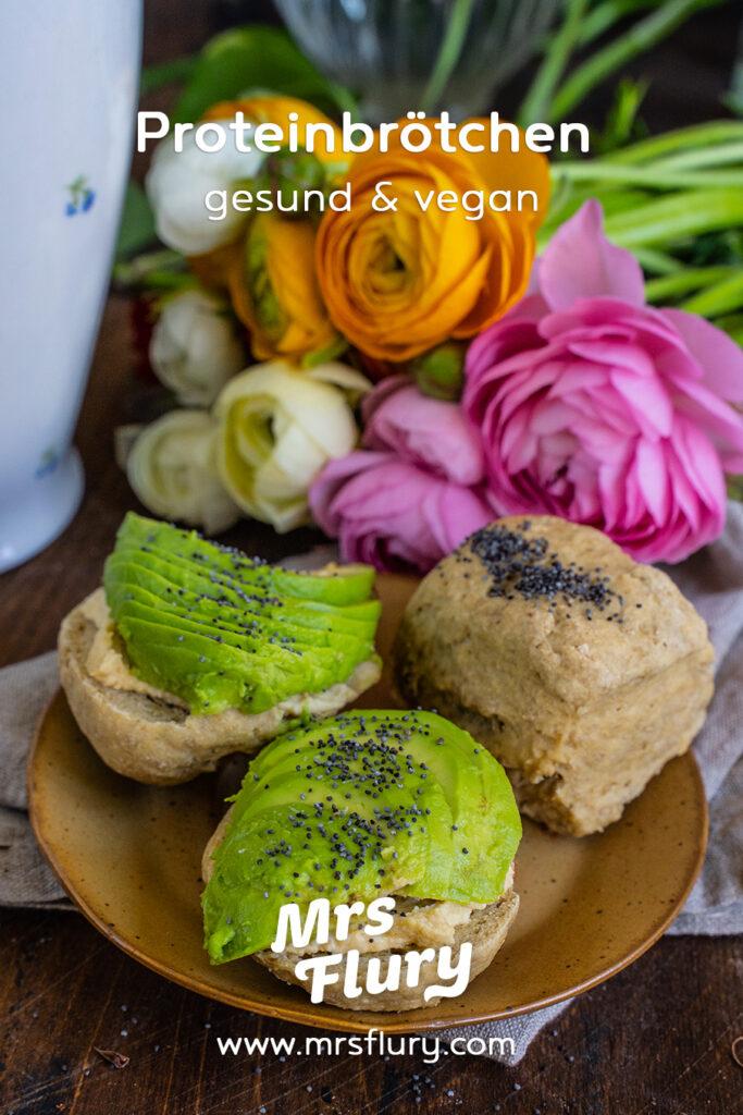 Gesunde Protein Brötchen 5 Zutaten Rezept vegan Mrs Flury
