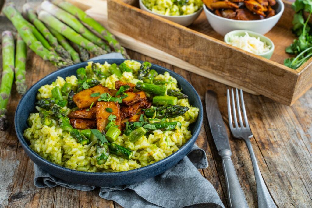 Veganes Spargel-Risotto cremig und einfach Rezept Mrs Flury