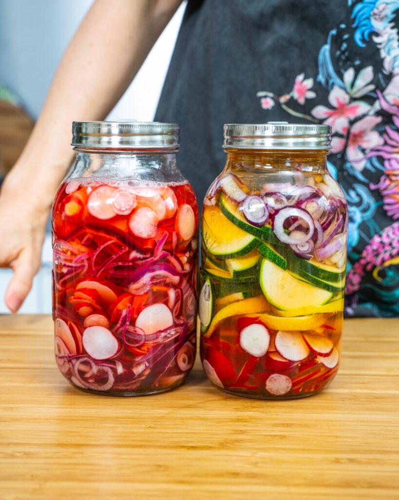 Pickles - Schnell eingelegtes Gemüse Rezept Mrs Flury