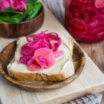 Pink Pickles - Schnell eingelegtes Gemüse Rezept Mrs Flury