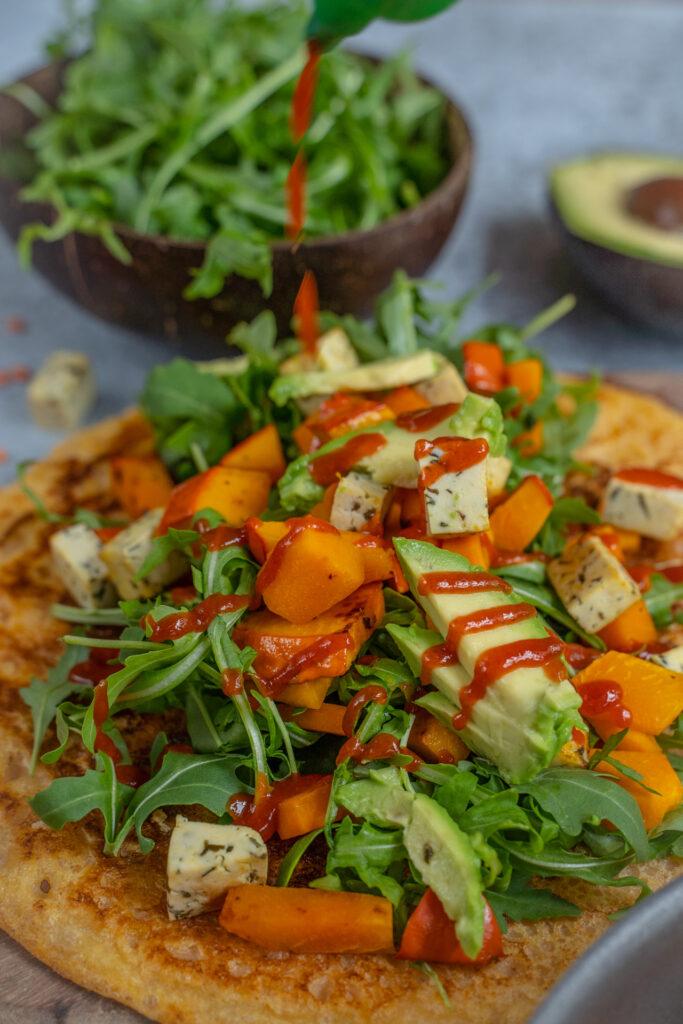 2 Zutaten Linsen Pfannkuchen Rezept vegan und glutenfrei Mrs Flury