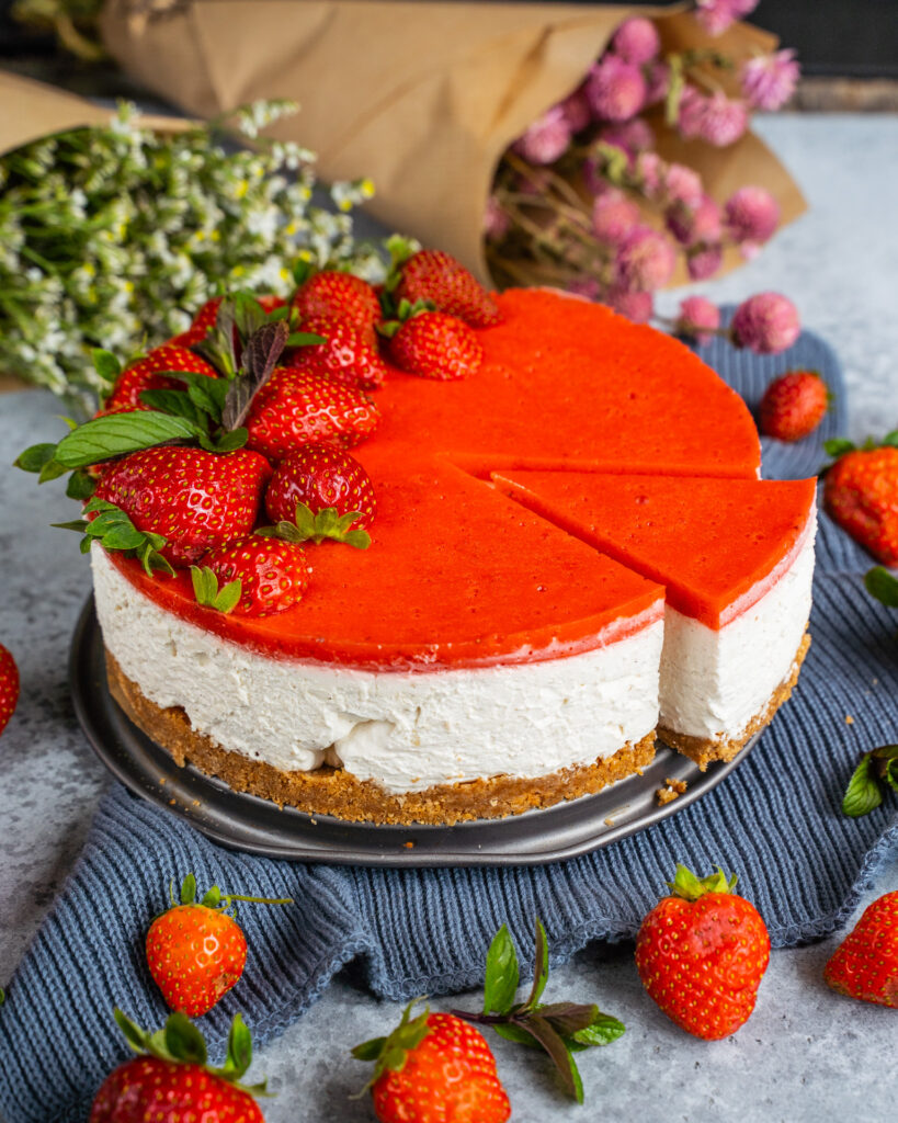 No Bake Cheesecake Vegan Mrs Flury Käsekuchen