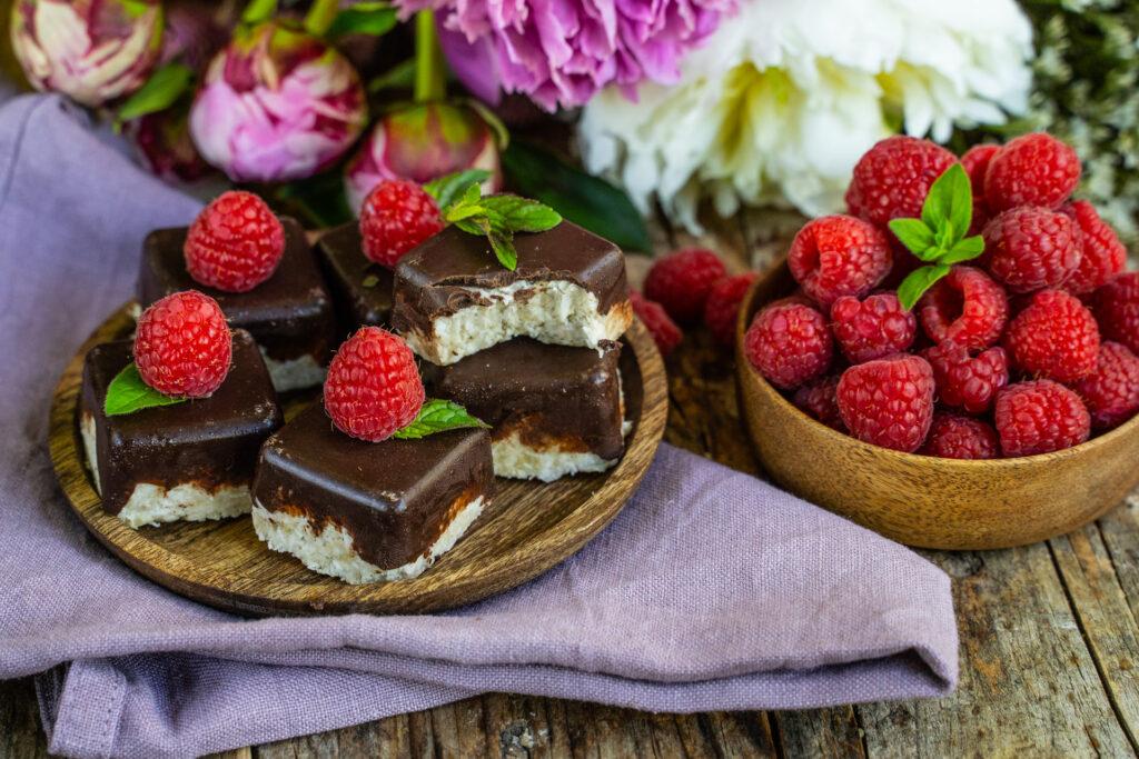 Low Carb Bounty Riegel vegan - gesundes Rezept Mrs Flury