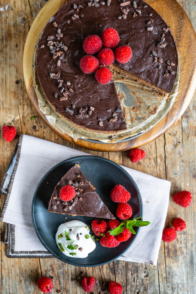 Haferflocken Schoko Cake No Bake Vegan Mrs Flury
