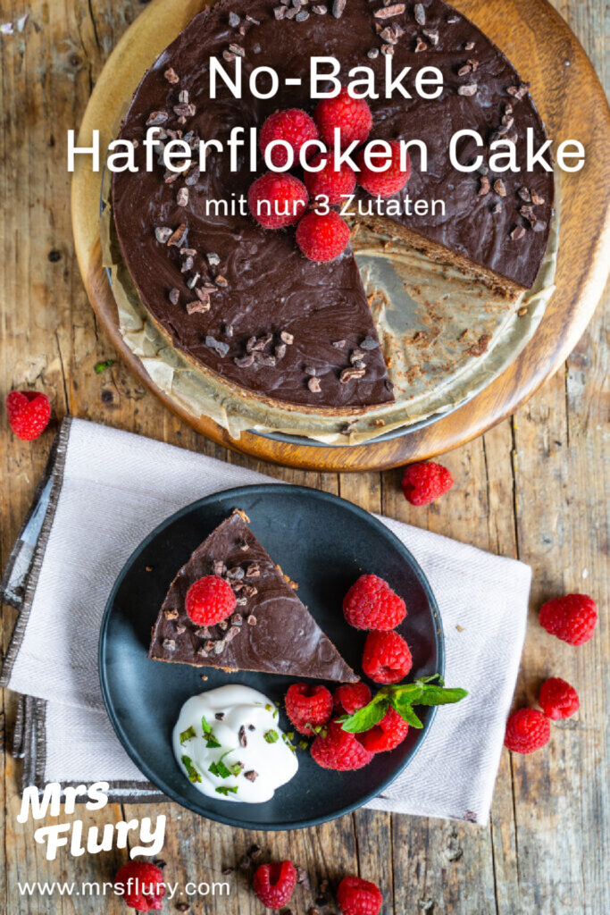 PIN Haferflocken Schoko Cake No Bake Vegan Mrs Flury