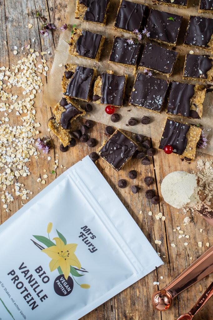 Cookie Dough Bars Bio Vanille Protein vegan Mrs Flury