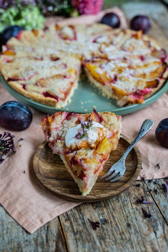 Vegane Wähe mit Guss - Zwetschgenwähe vegan Mrs Flury Rezept
